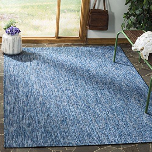 Safavieh Courtyard Collection CY8522-36822 Indoor/ Outdoor Area Rug, 9' x 12', Navy/Navy