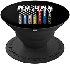 No One Fights Alone Thin Line Flag - PopSockets Grip and Stand for Phones and Tablets