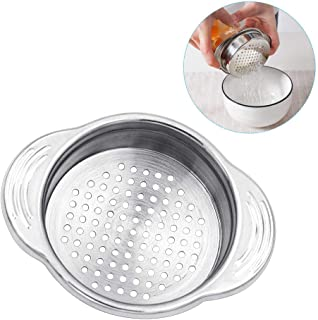 KMEIVOL Tuna Strainer Press, Food-Grade Stainless Steel Tuna Drainers, Tuna Fish Strainer Press Lid Oil Drainer Remover, Multipurpose Can Colander Strainer for Tuna, Beans, Vegetables, and More