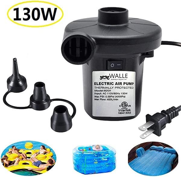 电动充气泵 ONG NAMO 便携式快速气泵,带 3 个气垫喷嘴,床,船,游泳圈,充气游泳池玩具,110 V AC 130W
