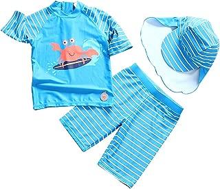AMIYAN Baby Jungen Schwimmanzug mit Badekappe Zweiteilig Bademode mit Dinosaurier Motiv Badeanzug f/ür Strand Baden Kinder 1-7 Jahre