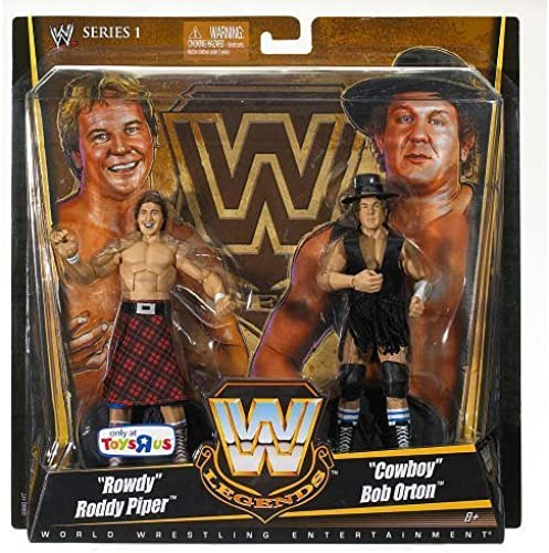 Mattel WWE Wrestling Exclusive True Legends Elite Action Figure 2Pack Rowdy Roddy Piper Cowboy Bob Orton by Mattel [並行輸入品]