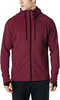 (テスラ)TESLA 長袖 機能性 スウェット ジャケット フード付き ジップアップ パーカー [UVカット・防風] 裏起毛 ランニング メンズ