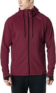 TESLA Men's Active Running Hoodie Full-Zip Jacket MKJ03