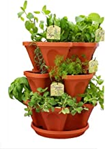 Vgreen Garden Store 3 Pot Brown Planter (3 Pot + 1 Tray)