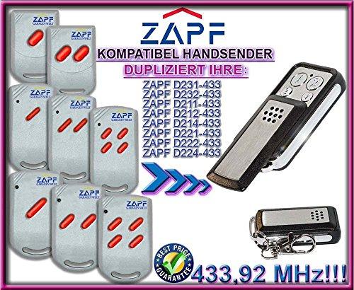 ZAPF D231 / 232 / 211 / 212 / 214 / 221 / 222 / 224 kompatibel handsender, klone fernbedienung, 4-kanal 433,92Mhz fixed code. Top Qualität Kopiergerät!!!