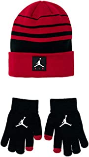 Boys Jordan Air Knit Beanie Hat and Glove Set Size Youth 8/20