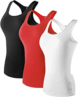 MAGNIVT Women's 3 Pack Dry Fit Compression Tank Top
