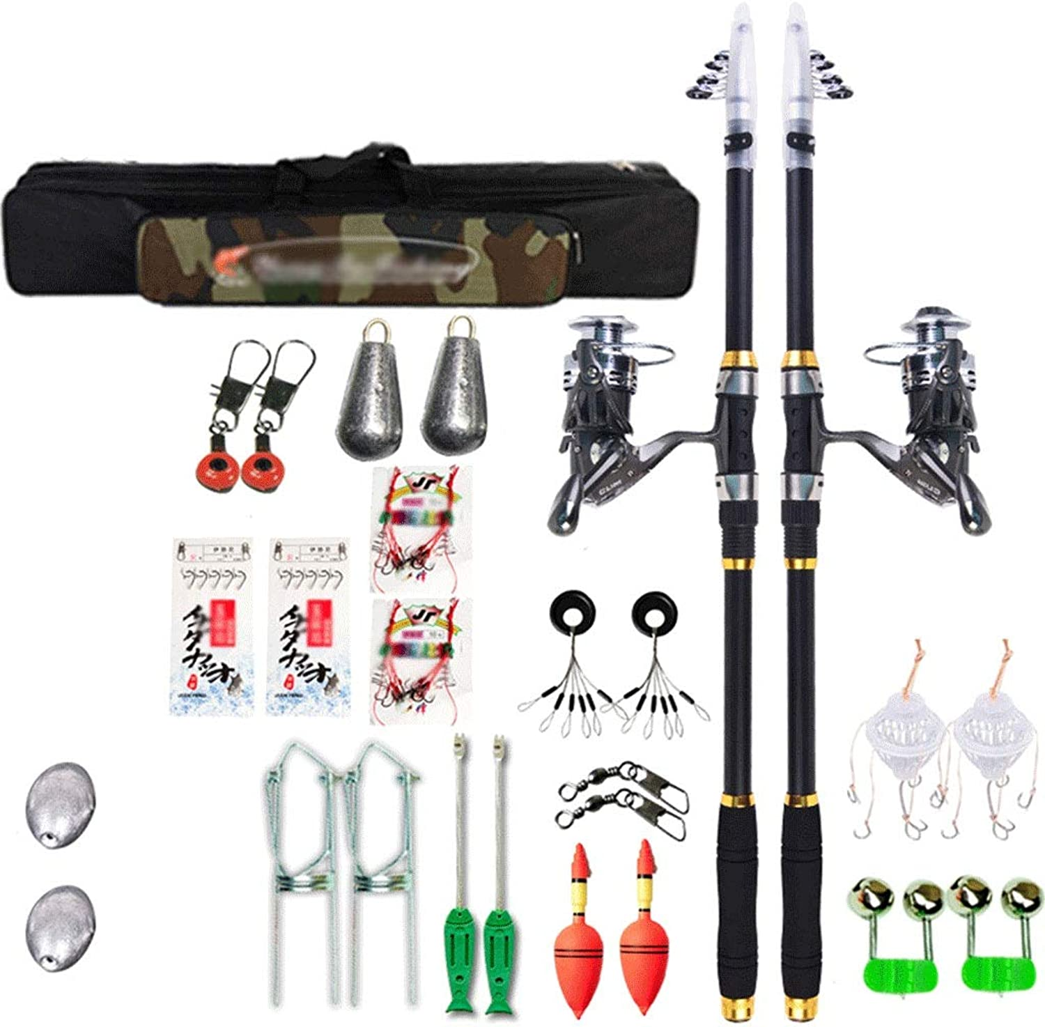 Spin Height Fiber Rods and Reel Combos Telescopic Fishing Rod with Sea Saltwater Freshwater Kit Fishing Rod Kit2 Pack