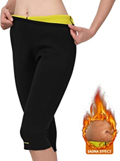 Unisex Weight Loss Hot Sweat Sauna Pants - Fat Burning, Leg Slimming, Increasing Sweat, Smoother Skin, Gym Sports Capris Leggings for Indoor & Outdoor Workout