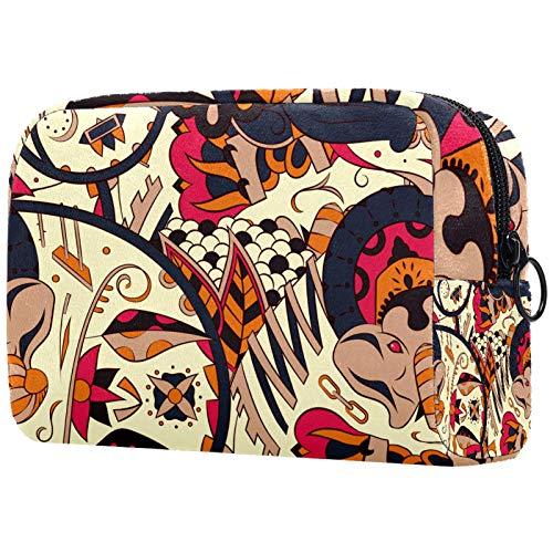 Make-up Taschen Tragbare Reise Kosmetiktasche Organizer Multifunktionskoffer Bunte Graffiti-Textur. mit Reißverschluss-Kulturbeutel für Frauen