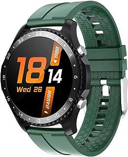 Smartwatch bransoletka połączenie Bluetooth inteligentny zegarek wykrywanie temperatury ciała muzyka gra wiadomość push sp...