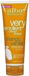 Alba Botanica Moisturizing Cream Shave, Mango Vanilla - 8 oz