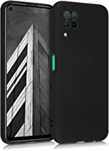 kwmobile Case Compatible with Huawei P40 Lite - Soft Rubberized TPU Slim Protective Cover for Phone - Black Matte