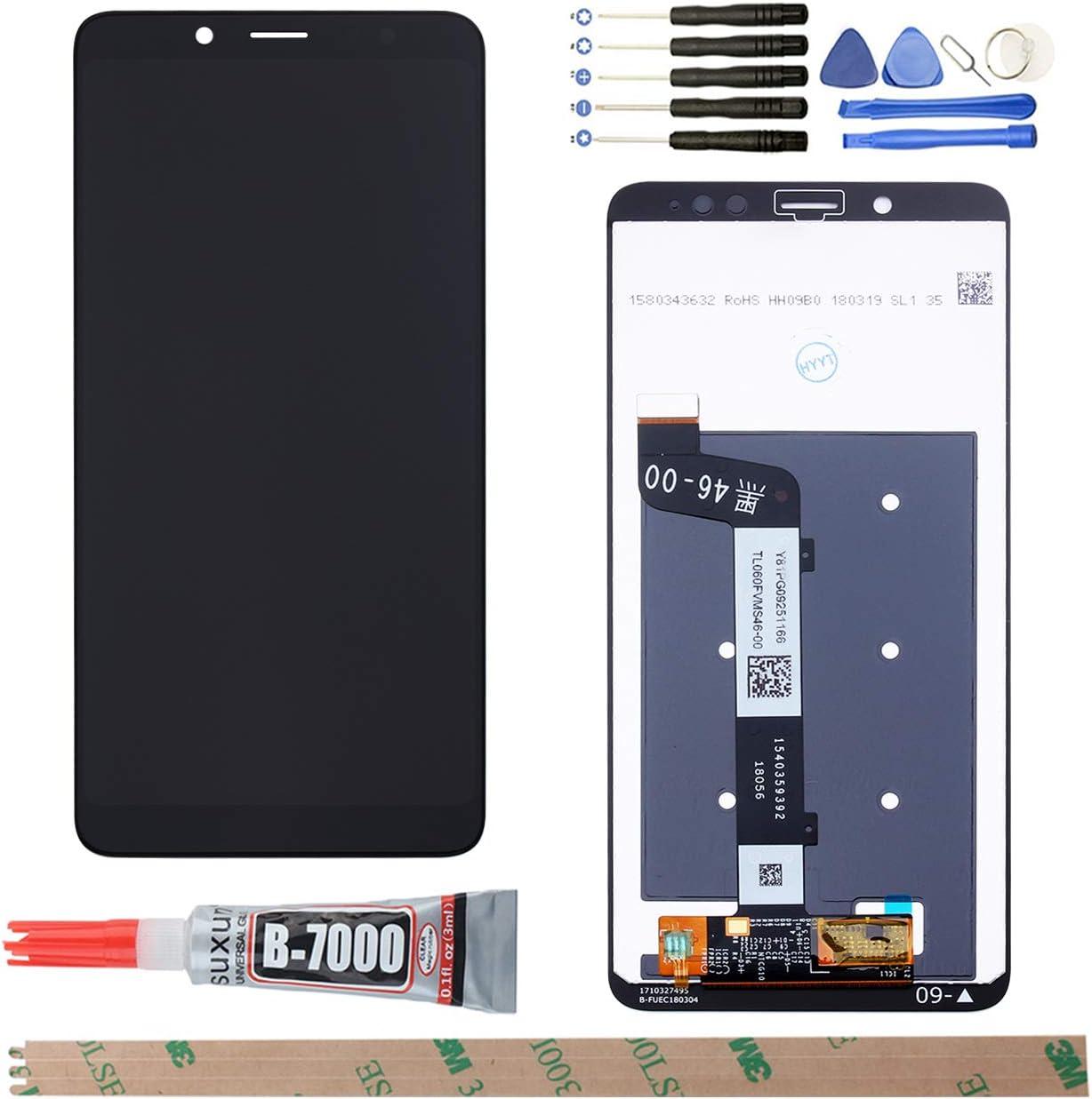 YHX-OU Pantalla LCD + Conjunto de digitalizador táctil de repuesto para XiaoMi Redmi Note 5 (negro)