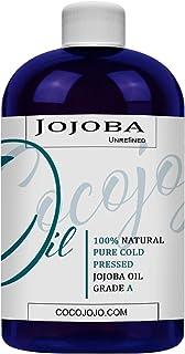 Jojoba Oil Organic Unrefined Cold Pressed 100% Pure Natural for Face Hair Beard Skin Body Lips Extra Virgin Golden Fresh Cut