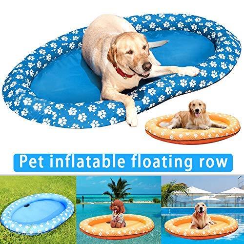 Eine schwimmende Masse-Dog Pet Pool Schwimmen, aufblasbare Schwimmbecken Wasser Spielzeug, aufblasbarer Pool Schwimmer for Erwachsene Hunde und Welpen zcaqtajro (Color : Orange)