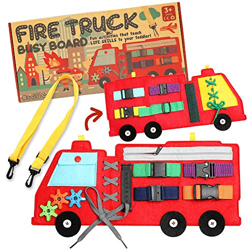 Busy Board, Firetruck Preschool Educational Early Learning Toy for Toddler, Basic...