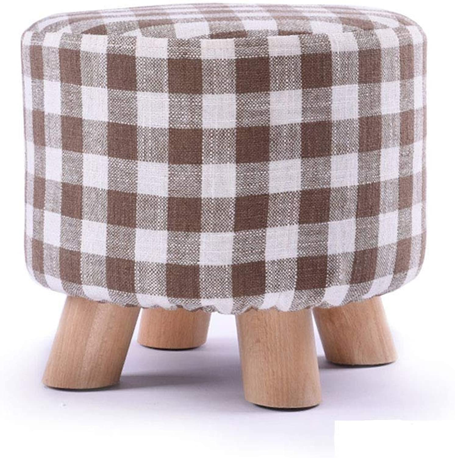 Fashion Creative Solid Wood Sofa Bench Fabric Change shoes Bench Home Bench Living Room FENPING (color   Brown)