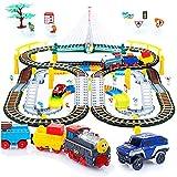 Kinderplay Tren eléctrico con Pista de Carreras para niños, vías...