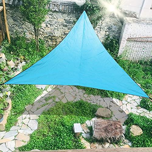 Toldo Vela de Sombra, Patio Shack Toldo Vela Transpirable Protección UV, Toldo Vela Parasol Impermeables Exterior, Fácil De Instalar para Patio, Exteriores, Jardín, (3 Tamaño),Azul,6x6m/10x10ft