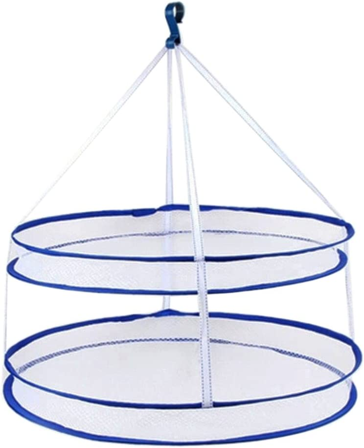 BESTOMZ Clothes Drying Award-winning store Rack Airer Mesh Hanging Dryer Net Double Max 66% OFF