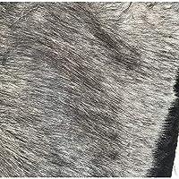160x50cm厚めフェイクウルフファー生地毛足40mm(ハーフメートル)、柔らかい茶色毛皮高級シャグ 生地シャグ張り財布 バッグ 革小物作り 補修 張り替え 手芸材料仮装 かわいい ウィッチ 悪魔 コスプレ帽子(Color:濃い灰色)