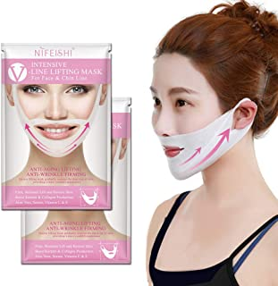 NIFEISHI V Line Lifting Mask (2 Pack) Chin Up Patch V Shape