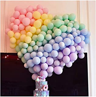 5 Inch Mini Pastel Latex Balloons 100pcs Assorted Macaron Candy Colored Latex Party Balloons for Wedding Birthday Baby Sho...