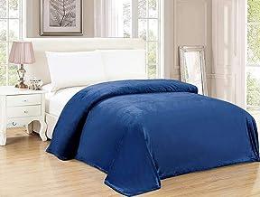 Soft Flannel Fleece Blanket, Dark Blue, Single Size, 200 * 160 cm