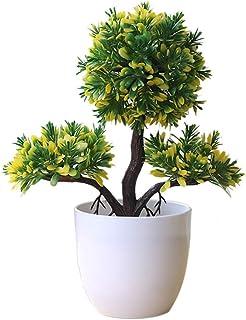 JoyRolly Bonsái Artificial Cedro Acogedor Pino emulado bonsái simulación Flores Artificiales Decorativas pote Verde Falso...
