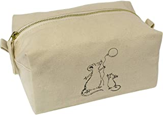 'Rats & Balloon' Canvas Wash Bag / Makeup Case (CS00018414)