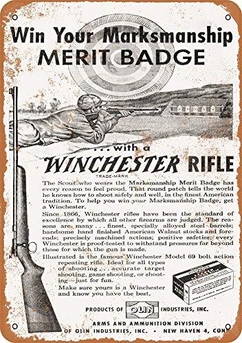 Yohoba 1953 Boy Scout Marcado Merit Badge Vintage Look 30,48 cm x 45,72 cm Metal Signs p