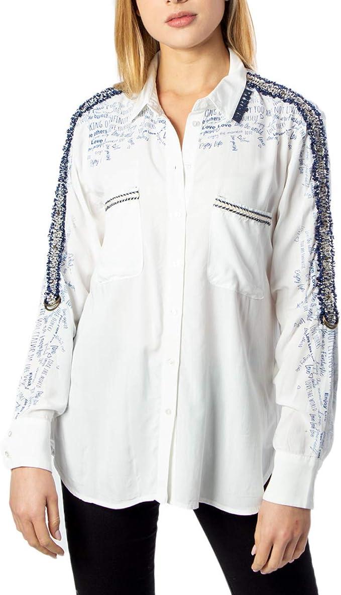 Desigual Camisa Hamburgo Blanca para Mujer.: Amazon.es: Ropa