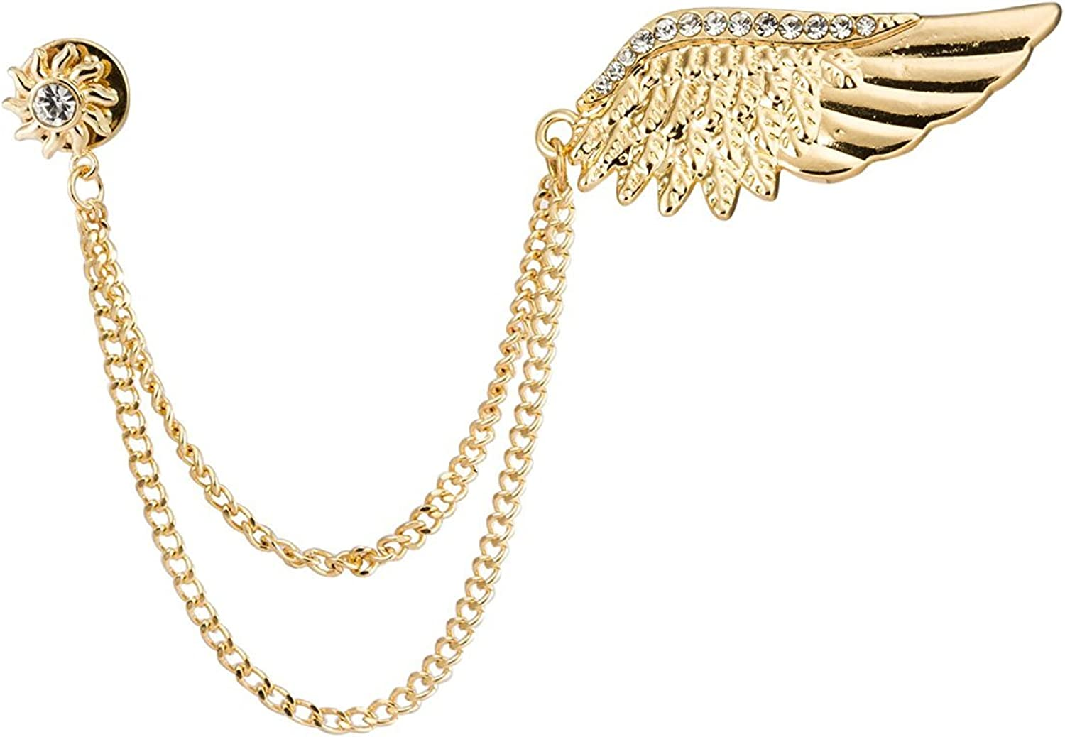 Knighthood Golden Max 49% OFF Swarovski Wing with Brooch Chain Golde Oakland Mall Hanging