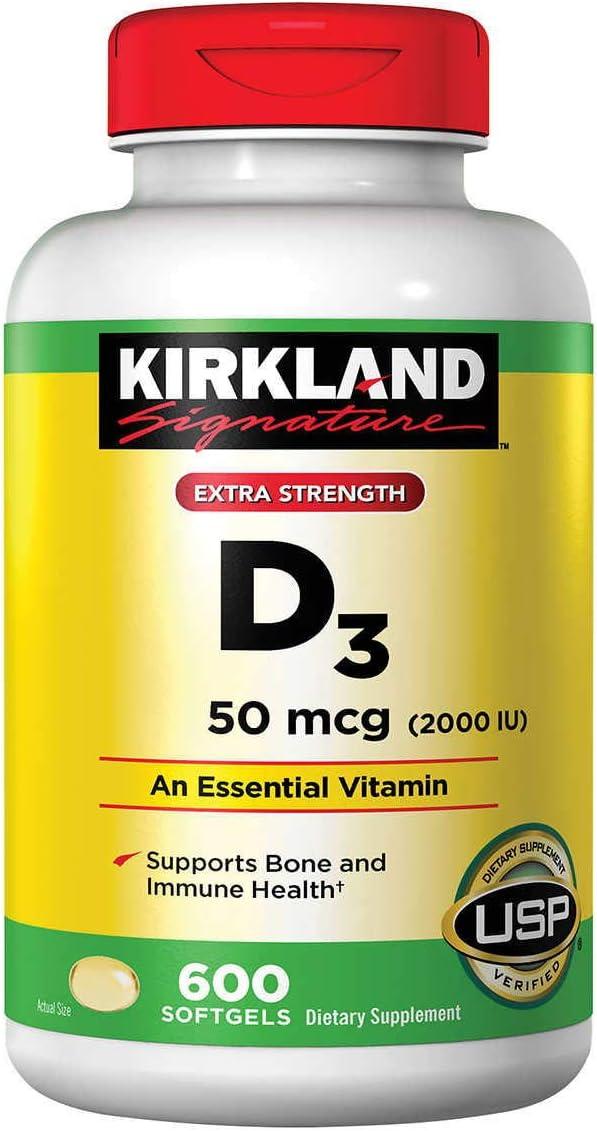 Kirkland 5 ☆ popular Signature Extra Strength New products world's highest quality popular Vitamin 2000 D3 Soft I.U. 1200
