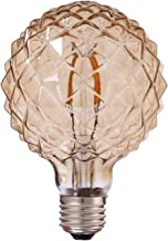 LED Vintage Gloeilamp, 4W Vergulde Ananas Ijs Diamant Helder Glas LED Edison Lamp 600 Lumen, Edison Lamp Hanglamp