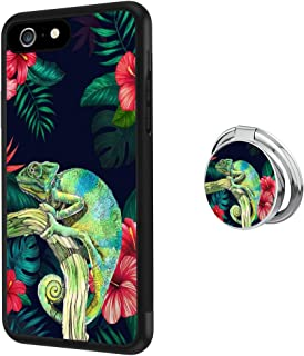 Hynina Phone Case and Phone Ring Buckle Compatible for iPhone 6s Plus 6 Plus - Chameleon Drawing
