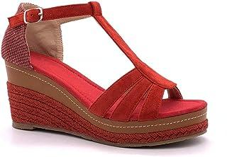 61c1a632e5c45d Angkorly - Chaussure Mode Sandale Espadrille lanière Cheville Plateforme  Femme Corde tréssé lanière Talon compensé Plateforme