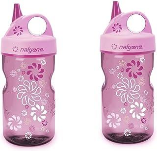 Nalgene Grip-N-Gulp Water Bottle (Wheels Pink 2 Count)