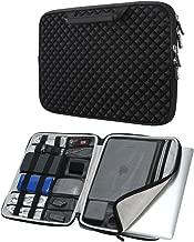 iCozzier 13-13.3 Inch Diamond Foam Laptop Sleeve Shock Resistant Electronics Accessories Storage Briefcase for Ultrabook/Notebook/MacBook – Black