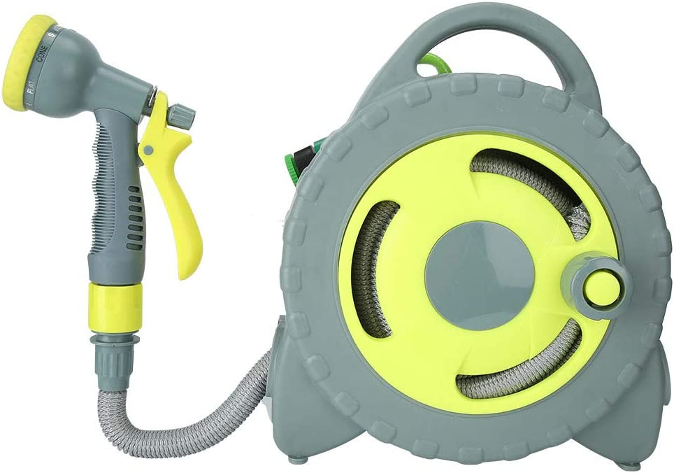 YYQTGG Portable Selling and selling Hose Cart Gray+Yellow 26.5 x Reel Superior Garden 1