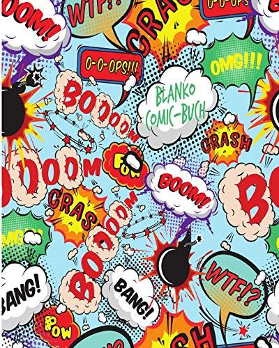 Blanko Comic Buch: Leeres Comicbuch zum selber zeichnen und selbsgestalten | Für Mangas und Cartoons |  Das kreative Geschenk für Künstler