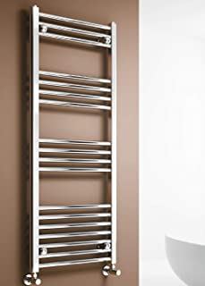 Radiador calentador de toallas para baño con calefacción, cromado, 1200*500