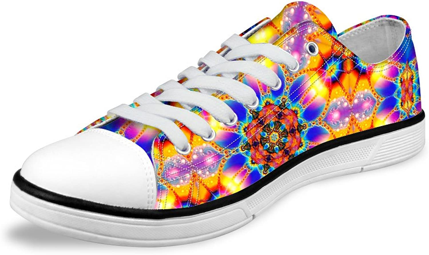 FOR U DESIGNS Shiny Light Weight Low Lace Up Canvas Sneaker Awesome Women shoes US 11