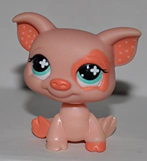 Pig #622 (Pig: Pink, Blue Eyes,) - Littlest Pet Shop (Retired) Collector Toy - LPS Collectible Replacement Single Figure - Loose (OOP Out of Package & Print)