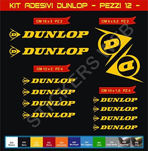 Pimastickerslab Aufkleber Stickers Dunlop -Motorrad- Cod. 0569 (Giallo cod. 021)
