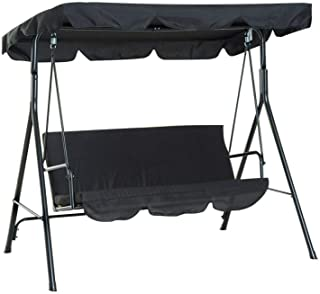 【𝐒𝐩𝐫𝐢𝐧𝐠 𝐒𝐚𝐥𝐞 𝐆𝐢𝐟𝐭】Swing Seat Top Cover, Rainproof Waterproof Swing Seat Top Cover Easy To Clean Support Weat...