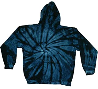 Tie Dye Blue Navy Hoodie Sweatshirt Kids and Adult S-3xl Pockets No Zipper Long Sleeve