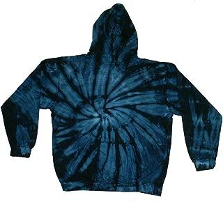 Tie Dye Blue Navy Hoodie Sweatshirt Kids and Adult S-3xl Pockets No Zipper Long Sleeve